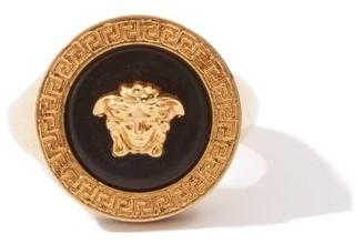 Versace Medusa-logo Signet Ring - Mens - Gold