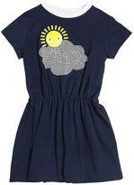 Fendi Logo Printed Cotton Jersey Dress