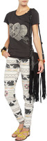 Current/Elliott Printed low-rise skinny-fit jeans