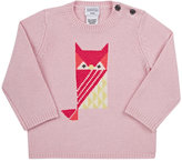 Barneys New York OWL-INTARSIA CASHMERE SWEATER