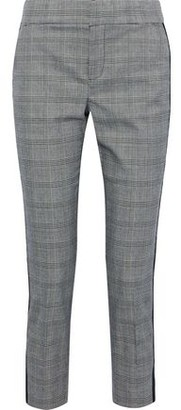 Joie Kenadia Cropped Prince Of Wales Checked Cady Slim-leg Pants
