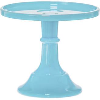 Mosser Glass Cake Plate - Robin Egg blue