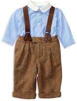Ralph Lauren Infant Boys' Shirt & Herringbone Suspender Pants Set - Sizes 3-24 Months