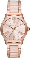 MICHAEL Michael Kors 38mm Bracelet Watch w/ Mixed Time Markers, Rose Golden