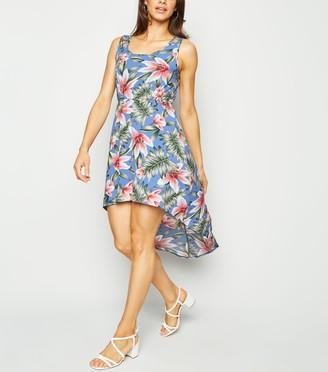 New Look Mela Tropical Dip Hem Dress