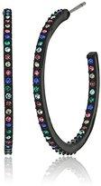 Kate Spade Enamel Hoops Black Multi-Hoop Earrings