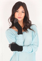 Plush Two Tone Covered Gloves in Grey/Black