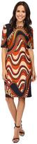 Taylor Printed Scuba Midi Dress