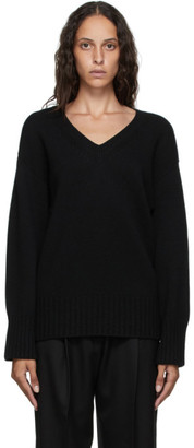 Arch The Black Cashmere and Wool V-Neck Sweater