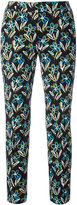 Prada floral cropped trousers