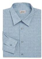 Brioni Checked Cotton Sportshirt