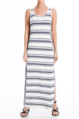 Max Studio Stripe Sleeveless Maxi Dress