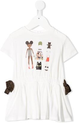 Fendi FFriends T-shirt dress