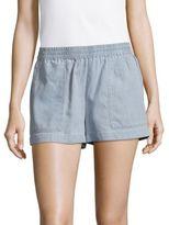 BCBGMAXAZRIA Woven Cotton-Blend Shorts