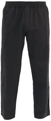 Folk Assembly Drawstring Cotton Trousers - Black
