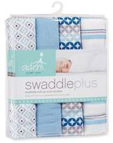 aden by aden + anais aden® by aden + anais® Boy Blue Muslin 4-Pack swaddleplus® Blankets
