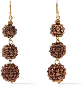 Kenneth Jay Lane 22-karat Gold-plated Bead Earrings