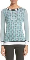 St. John Women's Geo Jacquard Stripe Sweater
