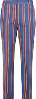 Stella Jean Striped cotton straight-leg pants
