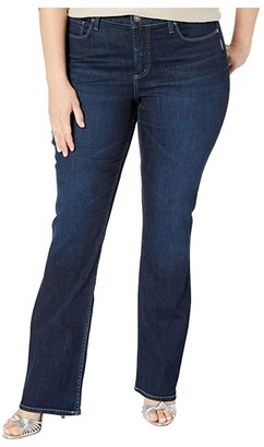 Silver Jeans Co. Plus Size Avery High-Rise Slim Boot Leg Jeans in Indigo W94627SSX475