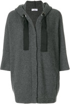 Brunello Cucinelli ribbed hooded cardigan
