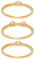 Judith Ripka 14K Set of 3 1/8 cttw DiamondStack Rings
