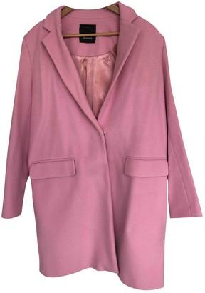 Pinko Pink Wool Coat for Women