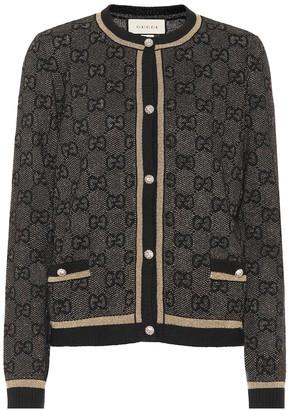 Gucci GG wool and lamA cardigan