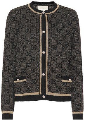 Gucci GG wool and lame cardigan