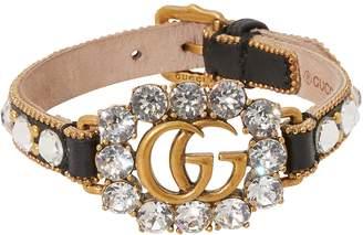 Gucci GG leather bracelet
