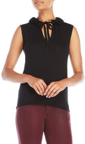 Sonia Rykiel Ruffle Collar Knit Tank Top