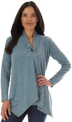 Apt. 9 Women's Fuzzy Jersey Button Drape Top