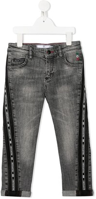 Philipp Plein Junior Iconic Plein straight-leg jeans