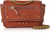Jerome Dreyfuss Benji Rust Nubuck and Leather Mini Crossbody Bag