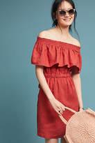 4OUR Dreamers Linen Off-The-Shoulder Dress