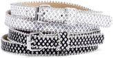 JCPenney RELIC Relic 2-pk. Glitter Skinny Belts