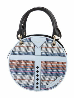 Ted Baker Raffia Circular Bag Blue