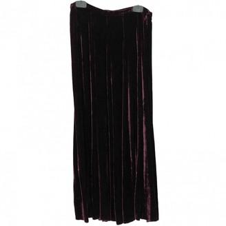 Jigsaw Burgundy Silk Skirt for Women Vintage