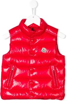 Moncler Enfant Logo Patch Embellished Gilet