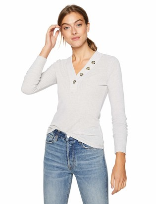 William Rast Women's Anna Long Sleeve Henley Top