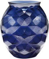Lalique Midnight Blue Turtle Vase