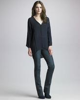Halston Leather Pants, Ebony