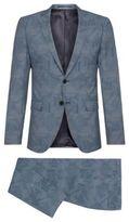 Hugo Boss Rocco/Wyatt Slim Fit, Italian Wool Patterned Suit 34R Blue