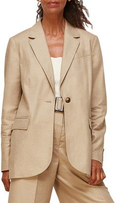 Whistles Tailored Linen Blend Jacket