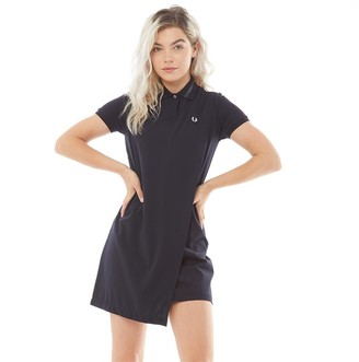 Fred Perry Womens Overlay Pique Dress Navy