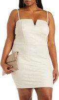 Charlotte Russe Plus Size Metallic Midi Dress