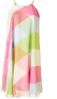 ALEXACHUNG Abstract Print Mini Dress
