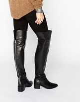 Asos KING FISHER Leather Over The Knee Boots