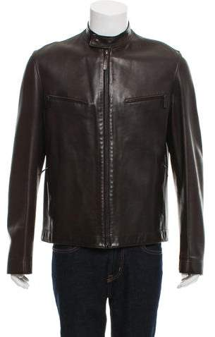 Gucci Leather Cafe Racer Jacket