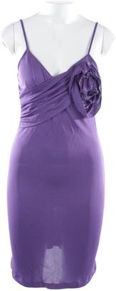John Galliano Purple Linen Dress for Women